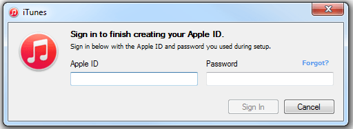 In iTunes, sign in to finish creating your iTunes Japan Apple ID. DONE!